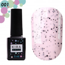 Гель-лак Kira Nails №001 Ваниль (с крошкой), 6 мл