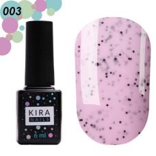 Гель-лак Kira Nails №003 Малина (с крошкой), 6 мл