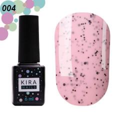 Гель-лак Kira Nails №004 Клубника (с крошкой), 6 мл