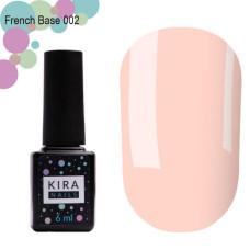 Kira Nails French Base 002 (нежный персиковый), 15 мл