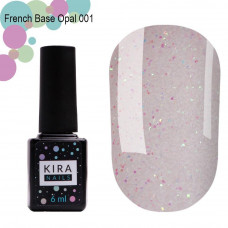 Kira Nails French Base Opal 001(опал), 15 мл