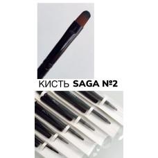 Кисть для геля овальная с колпаком Saga №2
