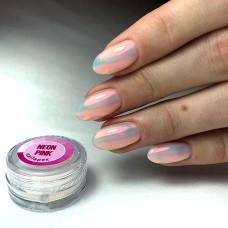 Втирка для ногтей белая Neon Pink, Nailapex