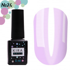 Гель-лак Kira Nails Vitrage №V24 (лавандовый, витражный), 6 мл