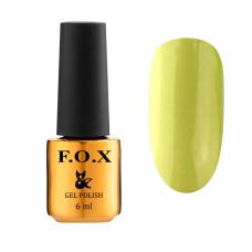 Гель-лак F.O.X Drinks №569 Lemonade (салатовый, эмаль), 6 мл