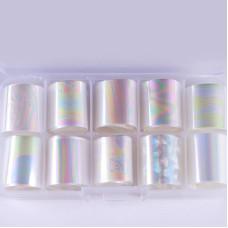 Набор фольги в таре прозрачная 10 шт ( размер 2.5 см * 1 м)