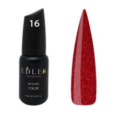 Гель-лак EDLEN №16 (Новогодний красный) 9 мл