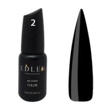 Гель-лак EDLEN №2 (Черная эмаль) 9мл