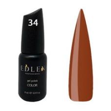 Гель-лак EDLEN №34 (Тёмный коричневый) 9 мл