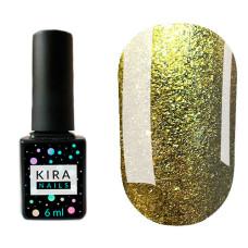 Гель-лак Kira Nails 24 Karat №005 (золото шампань с большим количеством блесток), 6 мл