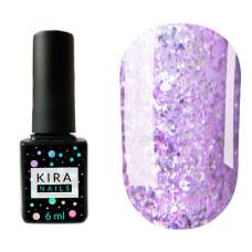 Гель-лак Kira Nails Shine Bright №007 (светло-фиолетовый с блестками), 6 мл