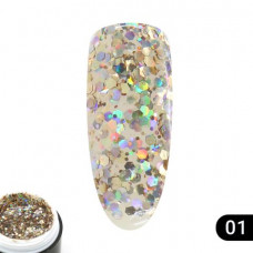 Гель Glitter Gel Global Fashion № (1), 5 мл