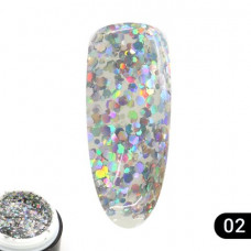 Гель Glitter Gel Global Fashion № (2), 5 мл