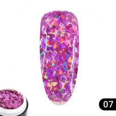 Гель Glitter Gel Global Fashion № (7), 5 мл