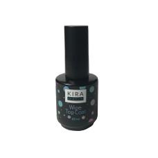 Kira Nails Wipe Top Coat - закрепитель для гель-лака с липким слоем, 15 мл