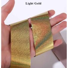 Фольга переводная голограммная Light Gold