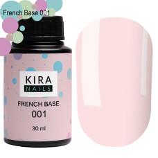 Kira Nails French Base 001 (нежно-розовый), 30 мл