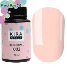 Kira Nails French Base 002 (нежный персиковый), 30 мл
