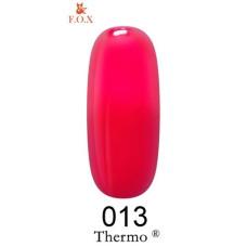 Термо гель-лак F.O.X №013 (кирпично-красный, при нагревании темно-оранжевый), 6 мл
